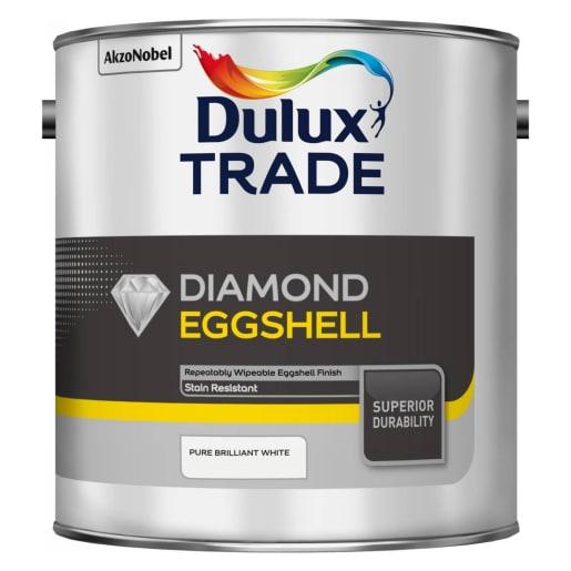 Dulux Trade Diamond Eggshell Paint 2.5L Pure Brilliant White