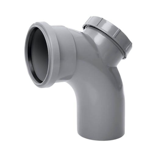 Polypipe Ring Seal Soil Single Bend Socket 92.50° Grey