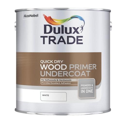 Dulux Trade Quick Dry Wood Primer Undercoat 2.5L White