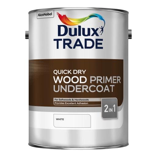 Dulux Trade Quick Dry Wood Primer Undercoat 5L White