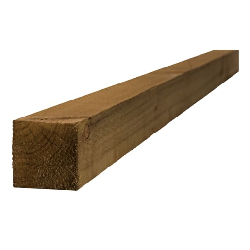 Treated Incised UC4 Fence Post Brown 75 x 75 x 2400mm