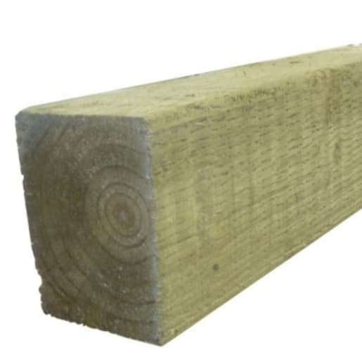 Treated Incised UC4 Fence Post Green 100 x 100 x 2400mm