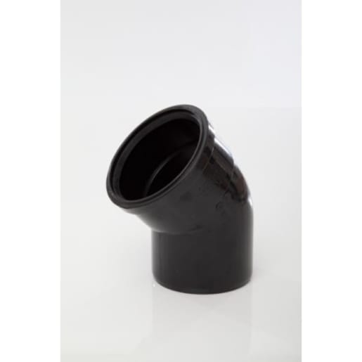 Polypipe Soil 92.5° Double Socket Bend 110mm Black