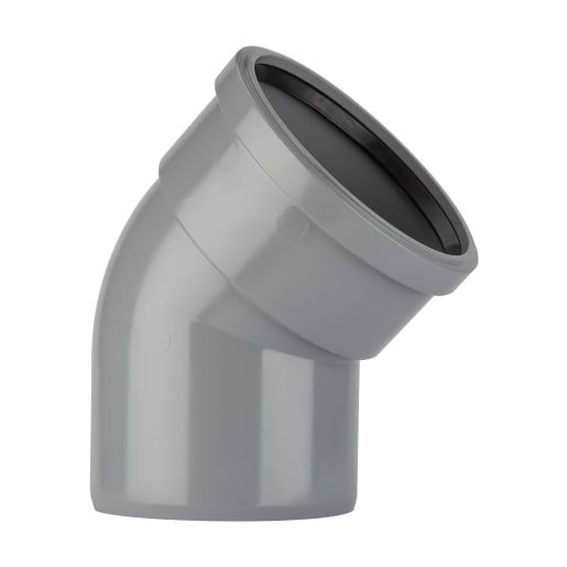 Polypipe Soil 135° Single Socket Bend 110mm Grey