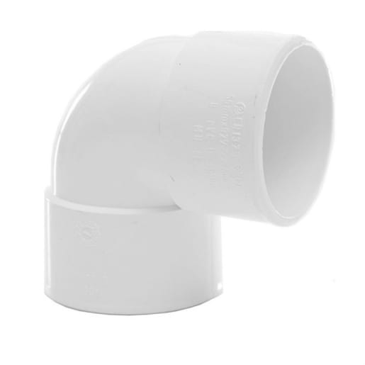 Polypipe Solvent Weld Waste 32mm Knuckle Bend 90° White