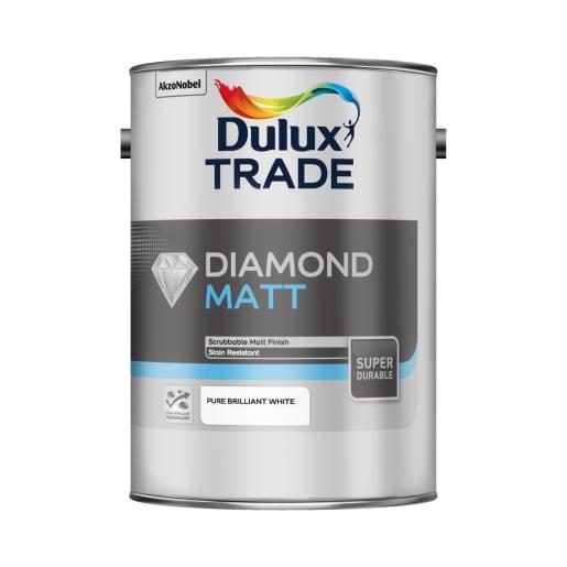 Dulux Trade Diamond Matt Paint 5L Pure Brilliant White