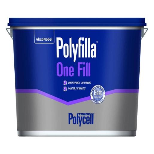Polycell Polyfilla One Fill Light Weight Surface Filler 4 Litre
