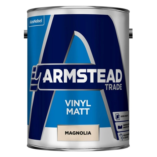 Armstead Trade Vinyl Matt 5 Litre Magnolia