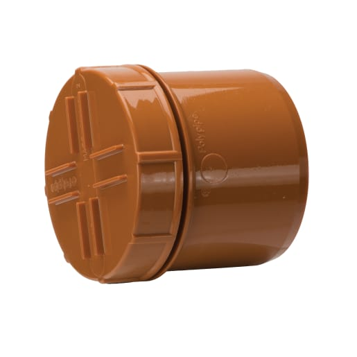 Polypipe Cap Spigot Tail Brown 110mm