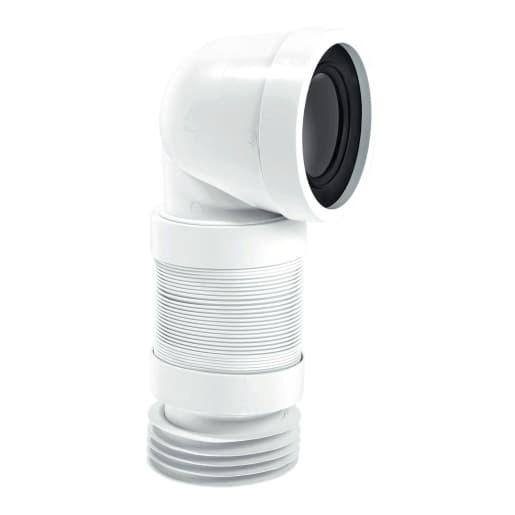 McAlpine Standard Flexible WC Pan Connector 110mm White