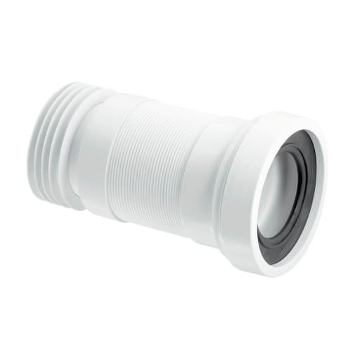 McAlpine Flexible WC Pan Connector 410mm White