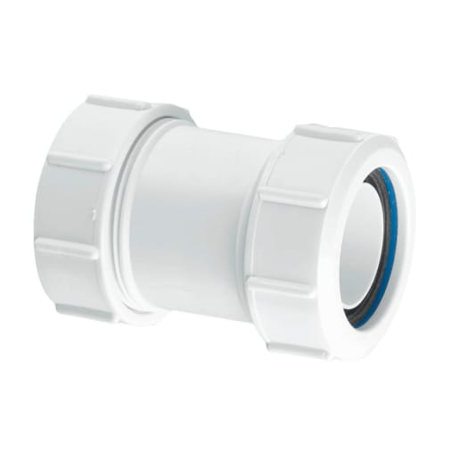 McAlpine Straight Multifit Connector 32mm White
