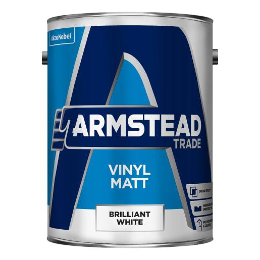 Armstead Trade Vinyl Matt 5 Litre Brilliant White