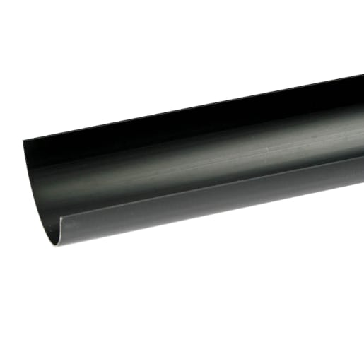 Polypipe Half Round Gutter 2m Black