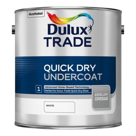 Dulux Trade Quick Dry Undercoat Paint 2.5L White