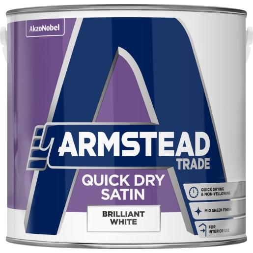 Armstead Trade Quick Dry Satin 2.5 Litre Brilliant White