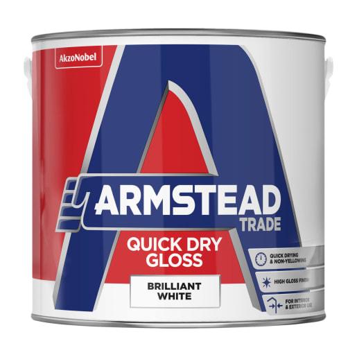 Armstead Trade Quick Dry Gloss 2.5 Litre Brilliant White