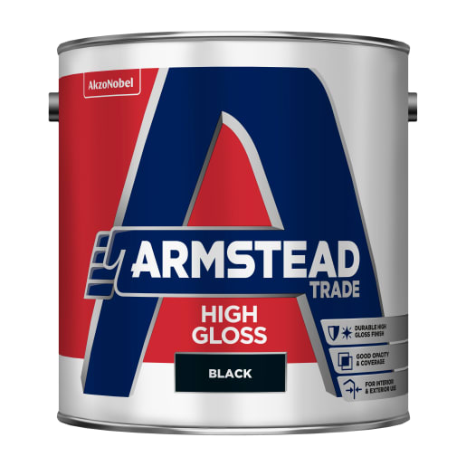 Armstead Trade High Gloss 2.5 Litre Black