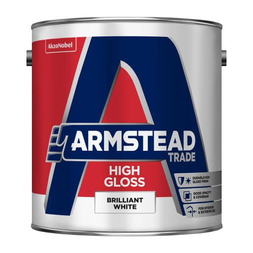 Armstead Trade High Gloss Paint 2.5L Brilliant White