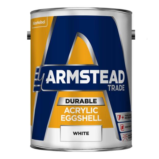 Armstead Trade Acrylic Eggshell 5 Litre White