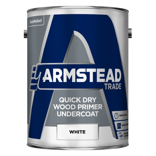 Armstead Trade Quick Dry Wood Primer Undercoat 5L White