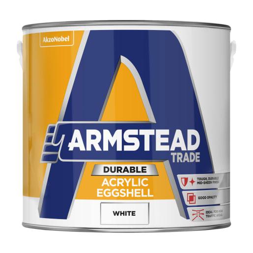 Armstead Trade Durable Acrylic Eggshell 2.5 Litre White
