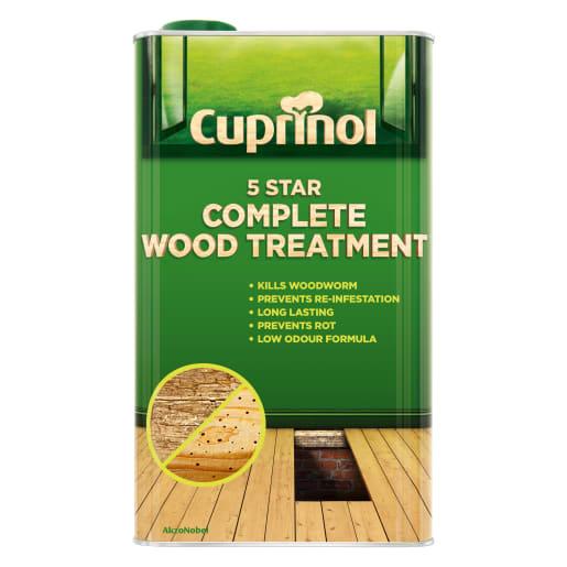 Cuprinol 5 Star Complete Wood Treatment Water Based 5L Clear