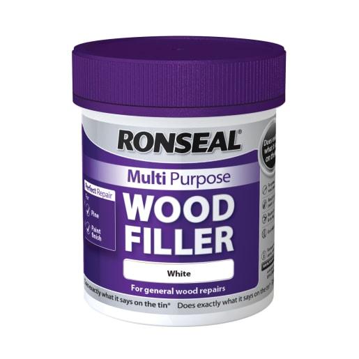Ronseal Multi Purpose Wood Filler White 250g