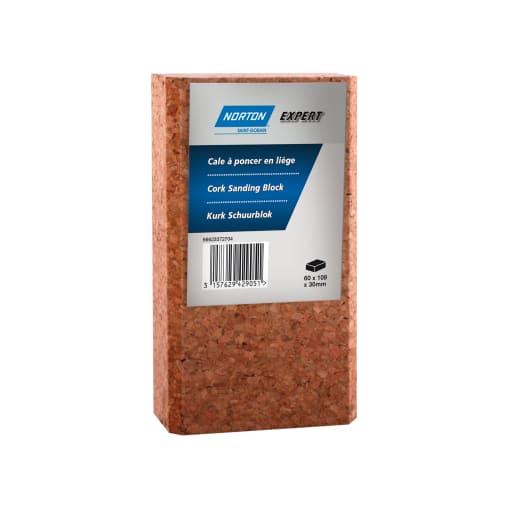 Norton Expert cork sanding block 109 x 62 x 30