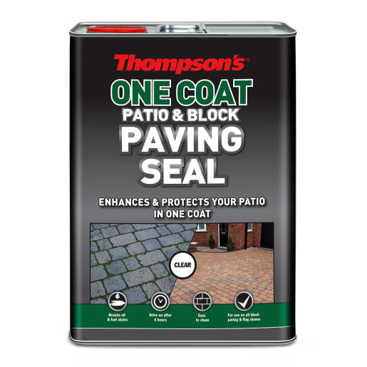 Thompson's One Coat Patio and Block Paving Seal 5L Clear