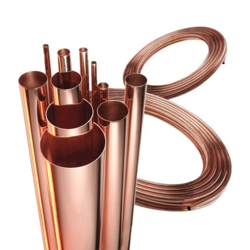Wednesbury Table Plain Copper Tube 3m x 15mm