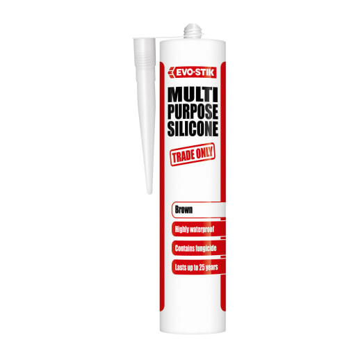 Evo-Stik Multi Purpose Silicone Sealant 280ml Brown