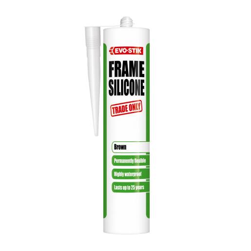 Evo-Stik Frame Silicone Sealant Brown
