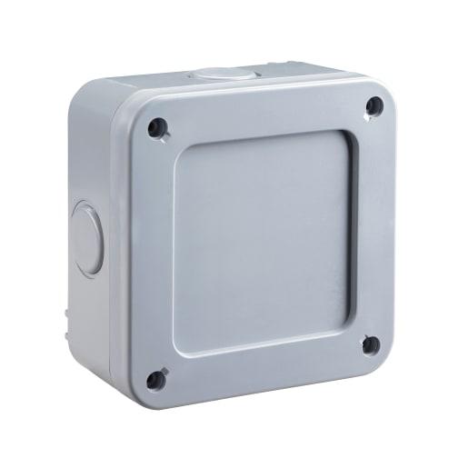 BG Electrical Nexus Storm Junction Box With 5 Pole Terminal Block Grey