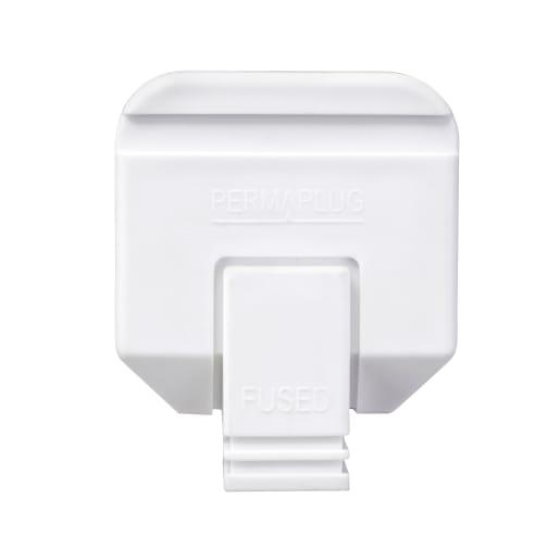BG Electrical Permaplug Heavy Duty 13A Plug White