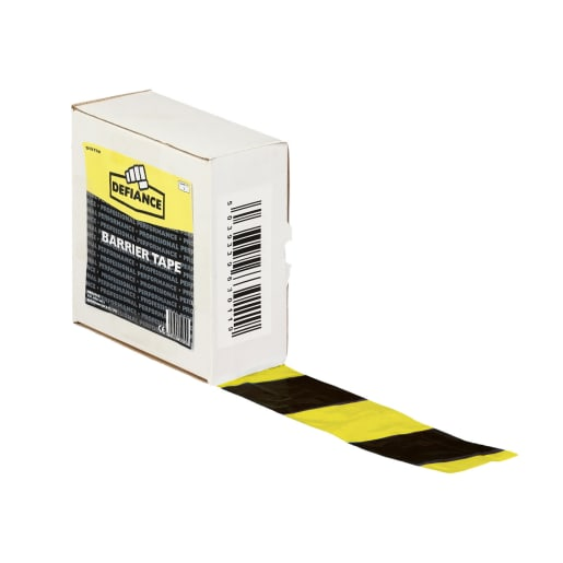 Barrier Safety Tape 500m x 75mm Black and Yellow