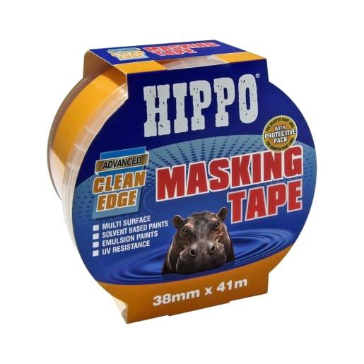 Hippo Clean-Edge Masking Tape 38mm x 41m Orange