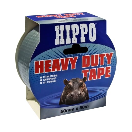 Hippo Heavy Duty Tape 50m x 50mm Silver