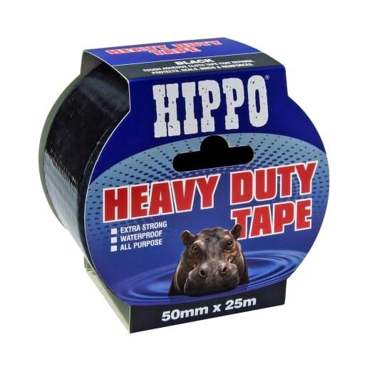 Hippo Heavy Duty Tape 50m x 50mm Black