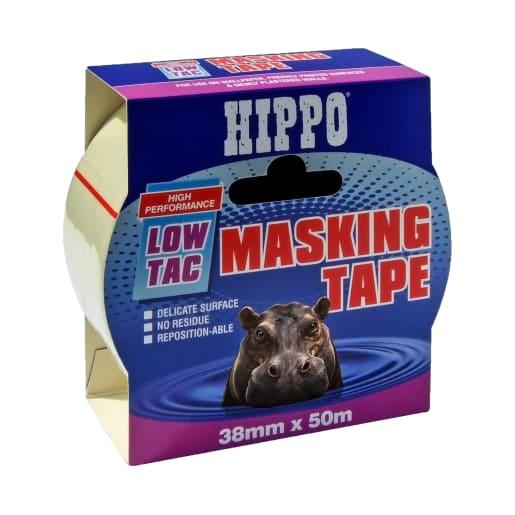 Hippo Low Tac Masking Tape 38mm x 50m Beige