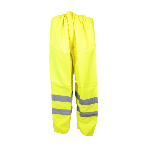 NOVIPro Hi-Vis Waterproof Trousers Class 2 Size Large Yellow