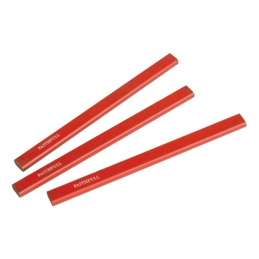 Faithfull Carpenter's Pencils Pack of 3