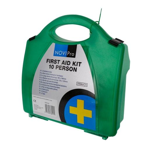 NOVIPro 10 Person First Aid Kit White