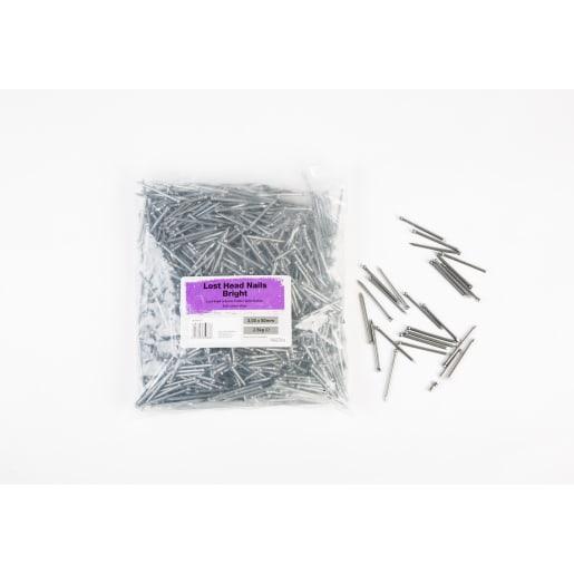 Lost Head Nails 50 x 3mm Bright 2.5kg Pack