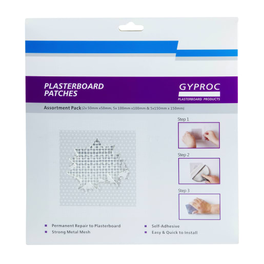 Gyproc Assorted Plasterboard Patches Pack of 12