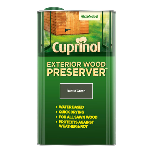 Cuprinol Trade External Wood Preserver 5 Litre Rustic Green