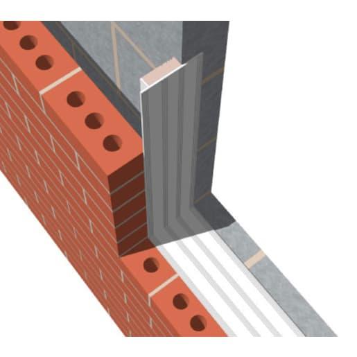 YBS Easi-Close Silver Cavity Closer 100mm -> 150mm 2.4 Metre