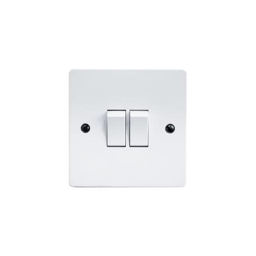 BG Electrical 2 Gang 2Way Switch White
