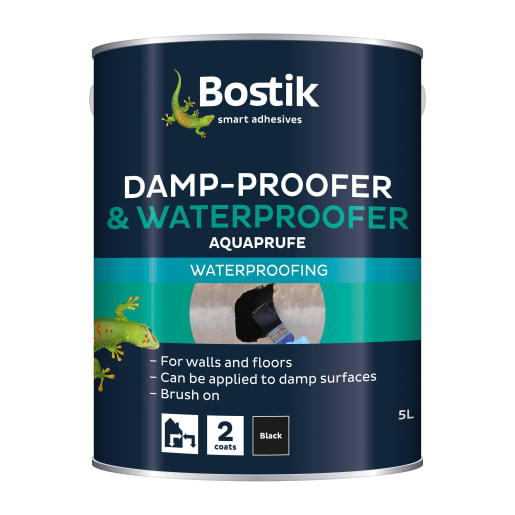 Bostik Cementone Flexible Damp Proofer and Waterproofer 5L Black