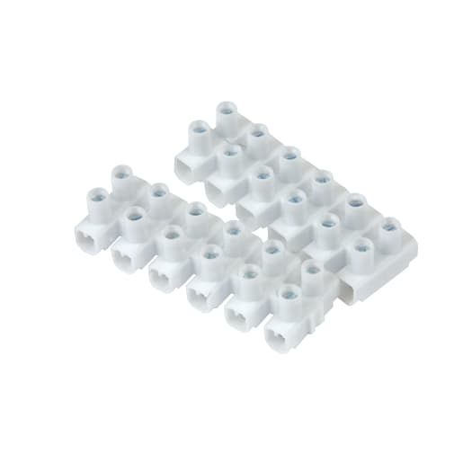 Nexus Connector Strips 30A 6Way White Pack of 2
